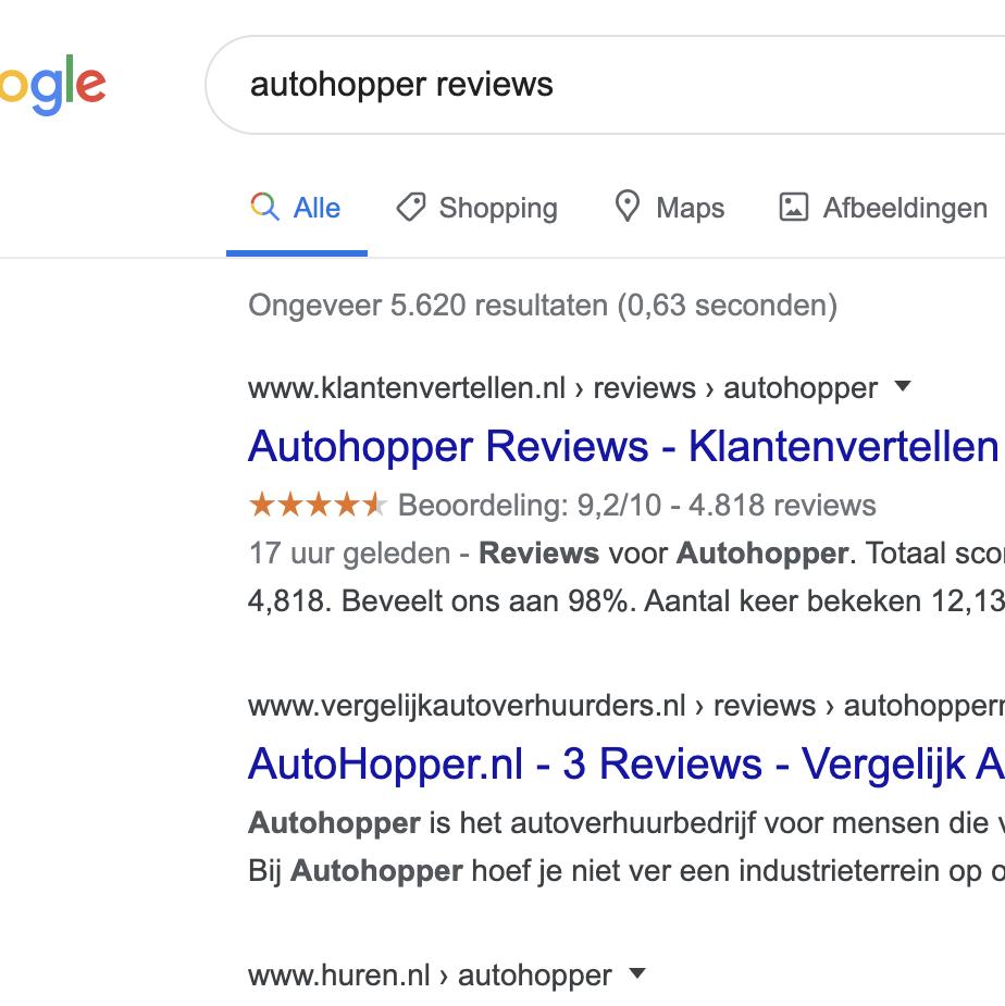 Klantreviews verdwenen in Google